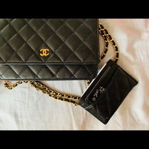 CHANEL Accessories - CHANEL Caviar Quilted CC Card Holder